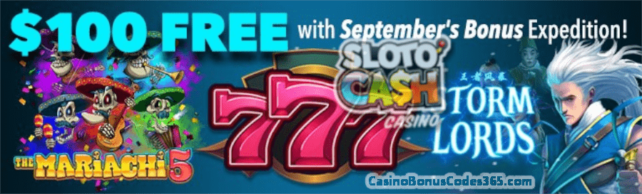 SlotoCash Casino The Luckiest September Pack