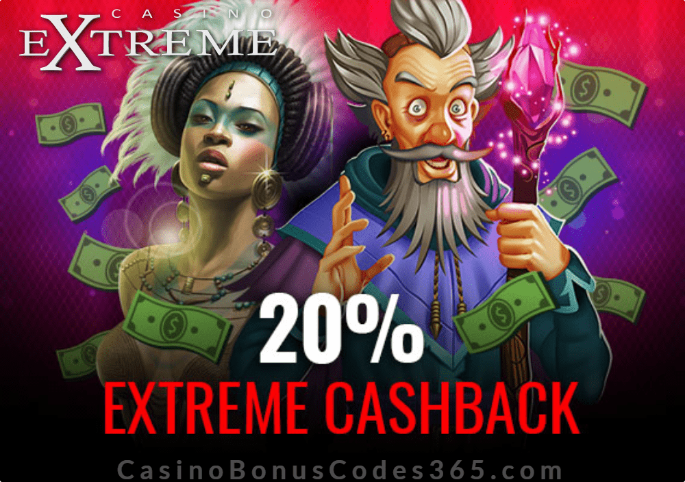 Casino Extreme 20% Cashback on every deposit