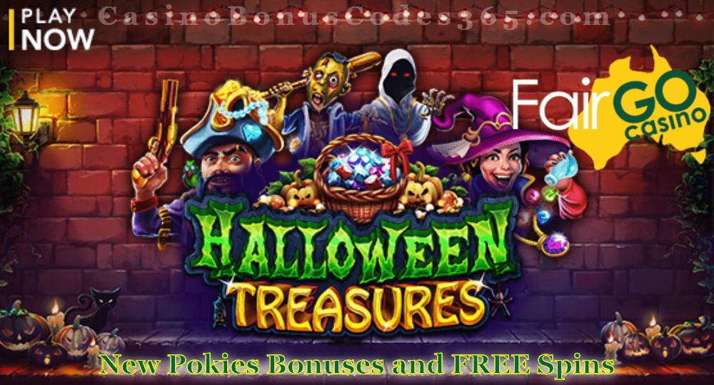 Fair Go Casino Halloween Treasures New RTG Game LIVE