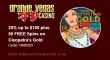 Grande Vegas Casino 25% up to $100 plus 50 FREE Spins on RTG Cleopatra's Gold Special Deal