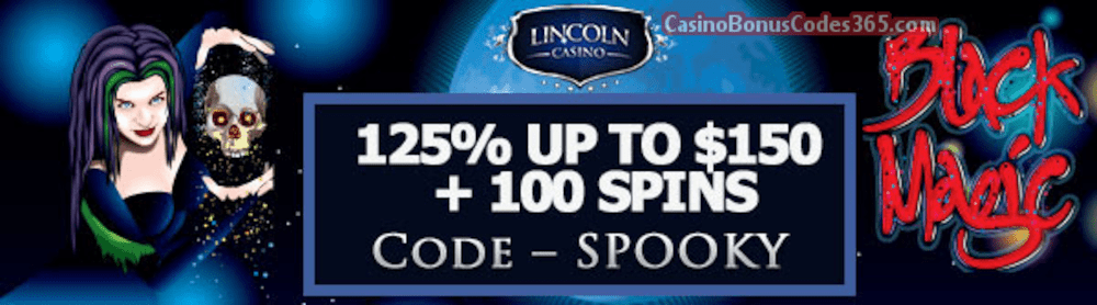 Lincoln Casino 150% up to $150 Bonus plus 100 FREE WGS Black Magic Spins Special Welcome Offer