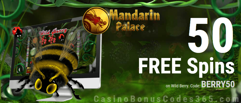 Mandarin Palace Online Casino 50 FREE Saucify Wild Berry Spins Exclusive Offer
