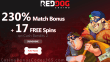 Red Dog Casino 230% Match Bonus plus 17 FREE Spins on Cash Bandits 2 New Players Offer