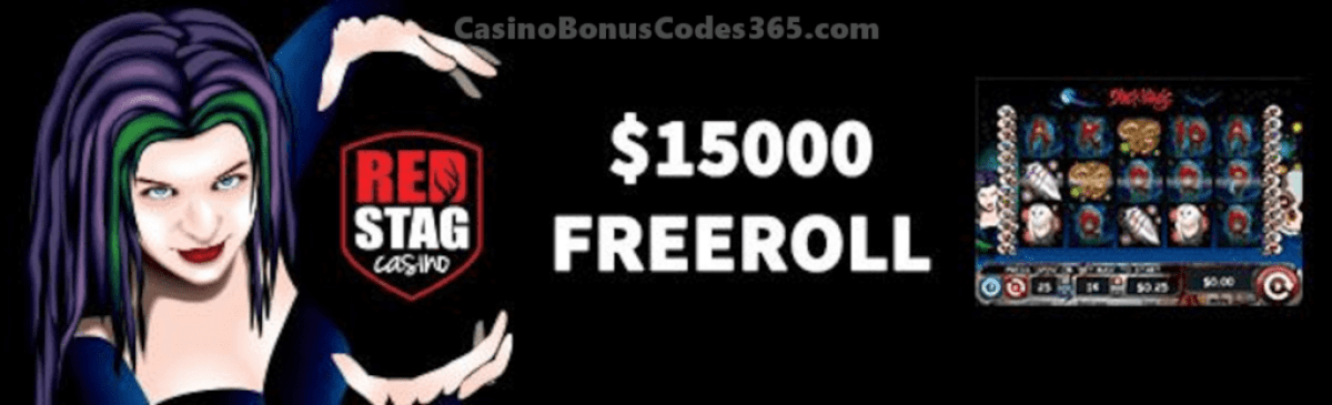 Red Stag Casino HalloWin Spooky Freeroll $15000 FREEroll WGS Black Magic