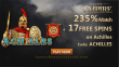 Slots Empire 235% Match Bonus plus 17 FREE Spins on RTG Achilles New Players Sign Up Deal