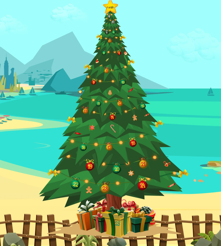 Fair Go Casino Advent Calendar 2019 Christmas Tree