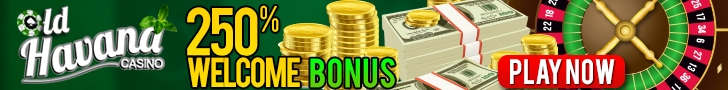 Old Havana Casino 250% Welcome Bonus