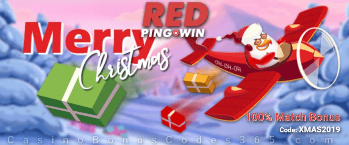 RED PingWin Casino 100% Match Bonus Holiday Deal