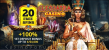 Cleopatra Casino 20 FREE Spins plus 100% Match Bonus Welcome Package