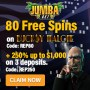 Jumba Bet 80 FREE Spins on Saucify Bucksy Malone plus 250% Match up to $1000 Welcome Deal
