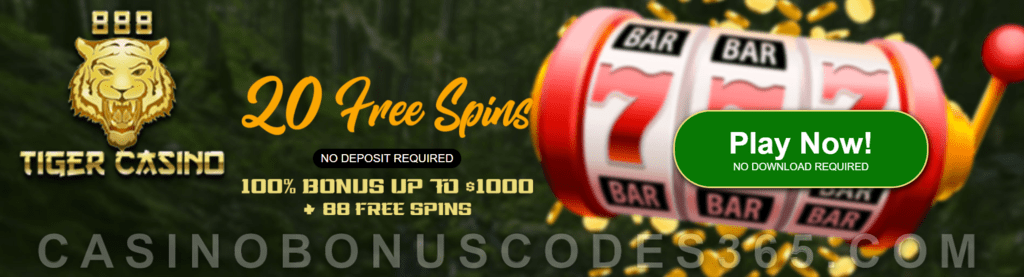 888 Tiger Casino 20 Free Jumping Jaguar Spins No Deposit Deal