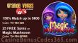 Grande Vegas Casino 150% up to $600 Bonus plus 25 FREE Spins on RTG Magic Mushroom Special Promo