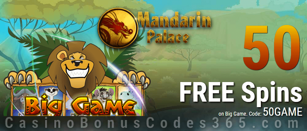 Mandarin Palace Online Casino Exclusive 50 FREE Spins on Saucify Big Game Exclusive Offer