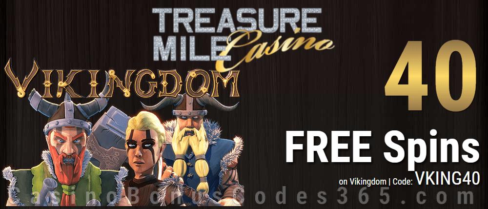 Treasure Mile Casino 40 Exclusive FREE Spins on Saucify Vikingdom