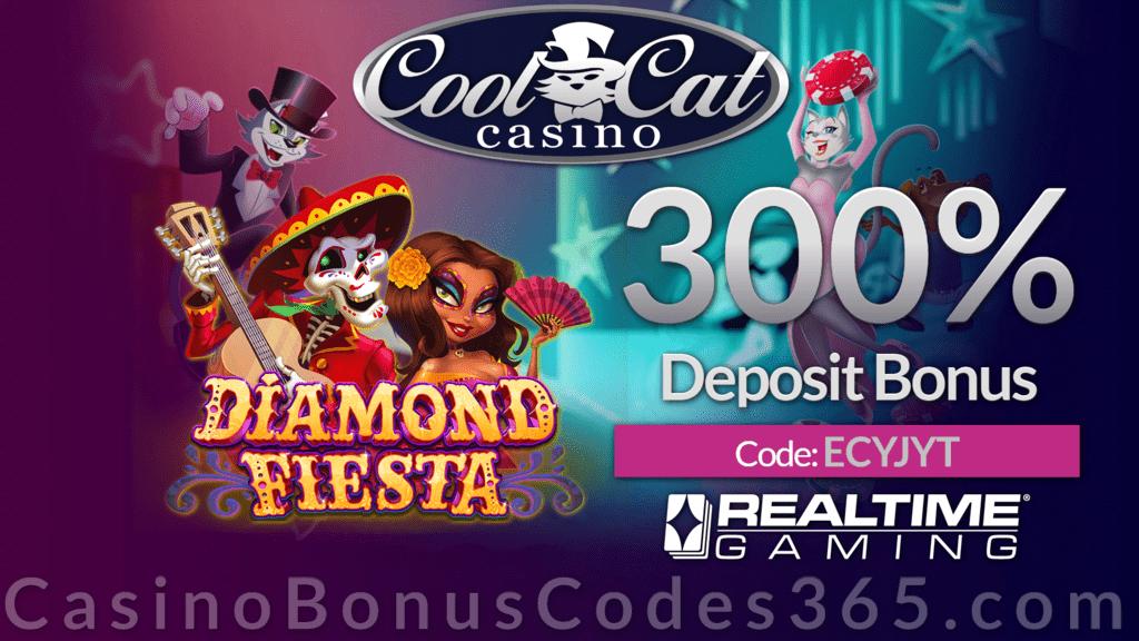 Coolcat Casino 300 Match Bonus Special Deal Casino Bonus Codes 365