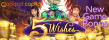 Jackpot Capital 55% up to $1000 Bonus plus 25 FREE Spins New RTG Game RTG 5 Wishes Special Deal