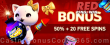 RED PingWin Casino 50% Match plus 20 FREE Spins Spring Bonus
