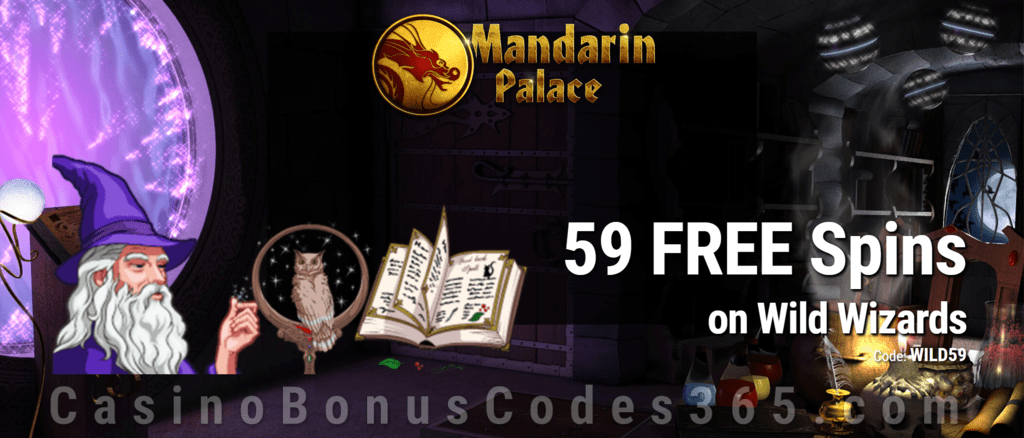 Mandarin Palace Online Casino 59 FREE Saucify Wild Wizards Spins Special Offer