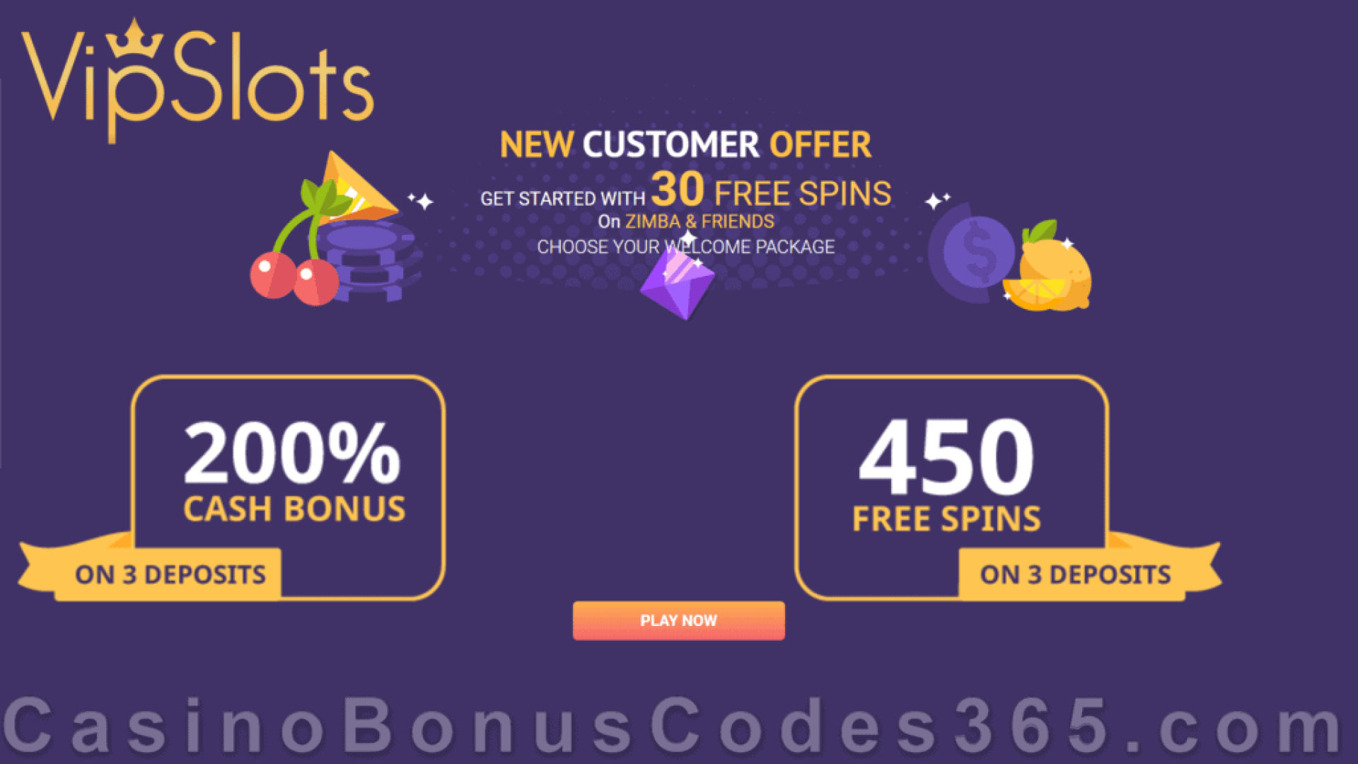 VipSlots Casino 30 No Deposit Welcome FREE Spins and $1500 Bonus or 450 FREE Spins Welcome Package