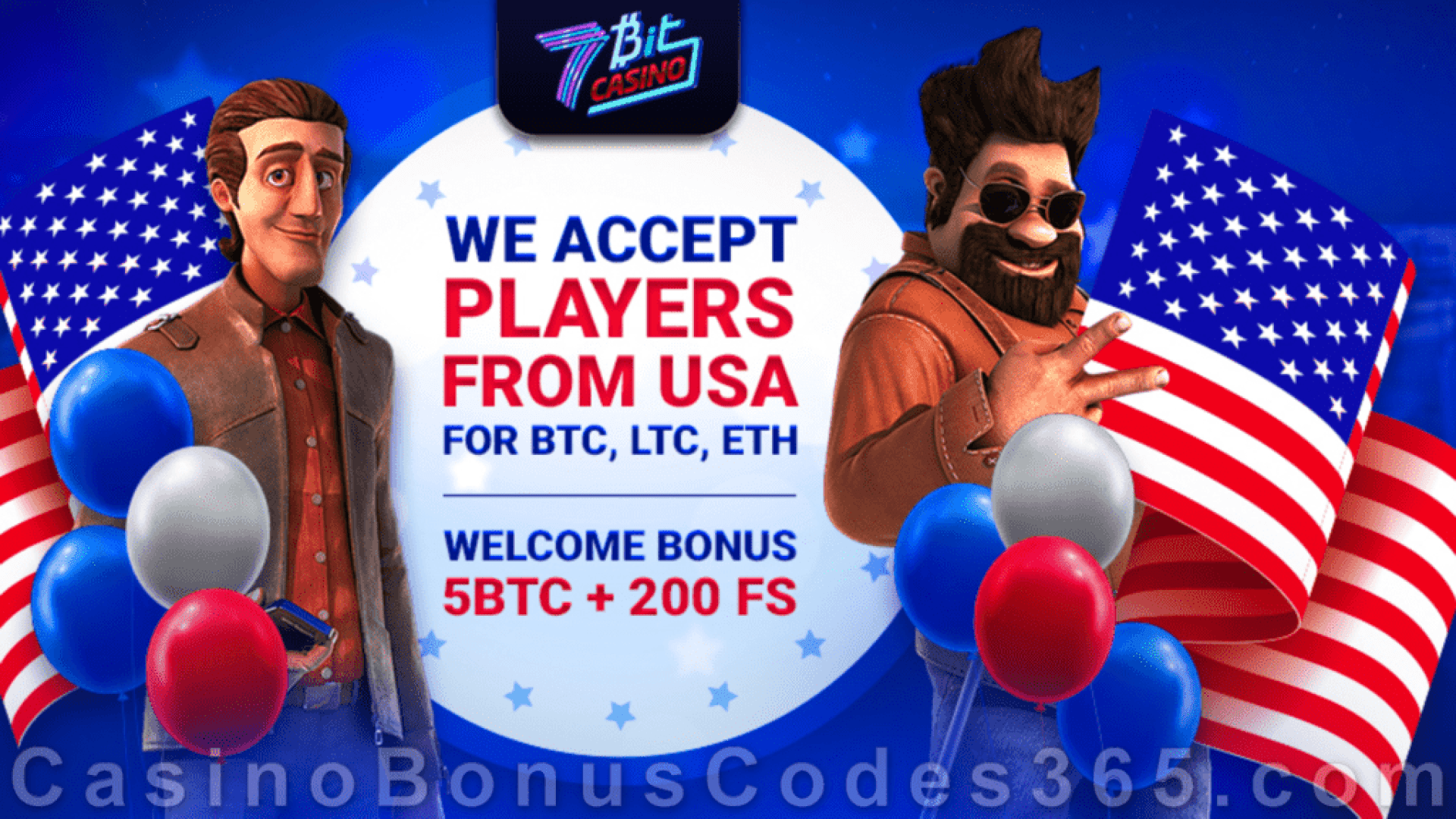 7BitCasino 5 BTC plus 200 FREE Spins Bitcoin Welcome Bonus