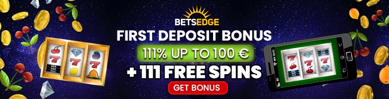 BetsEdge Casino €325 Bonus plus 225 FREE Spins Welcome Package First Deposit Bonus 111% plus 111 FREE Spins