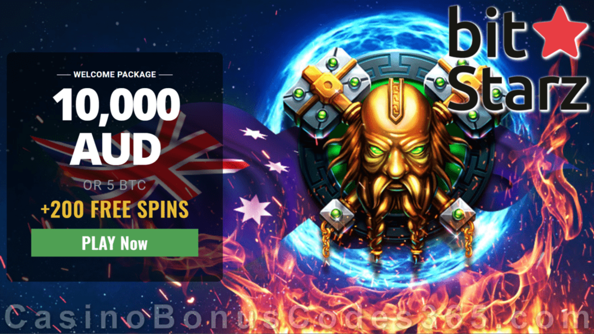 Bitstarz Casino A$10000 plus 200 FREE Spins Welcome Deal for Australian Players BGAMING Fire Lightning