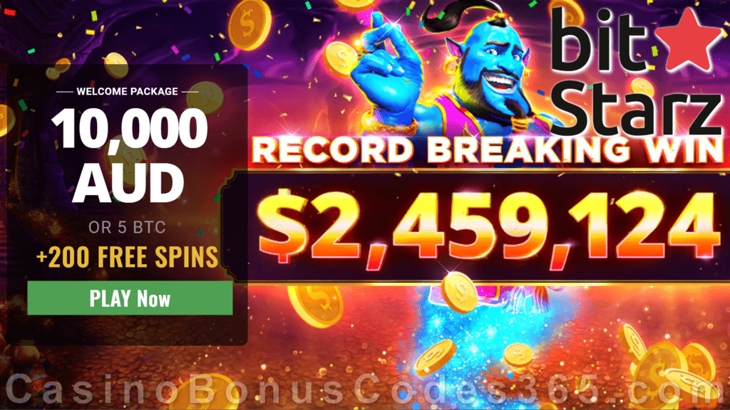 Bitstarz Casino A 10000 Plus 200 Free Spins Welcome Package