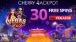 Cherry Jackpot New RTG Game 30 FREE Vegas Lux Spins Special Deal