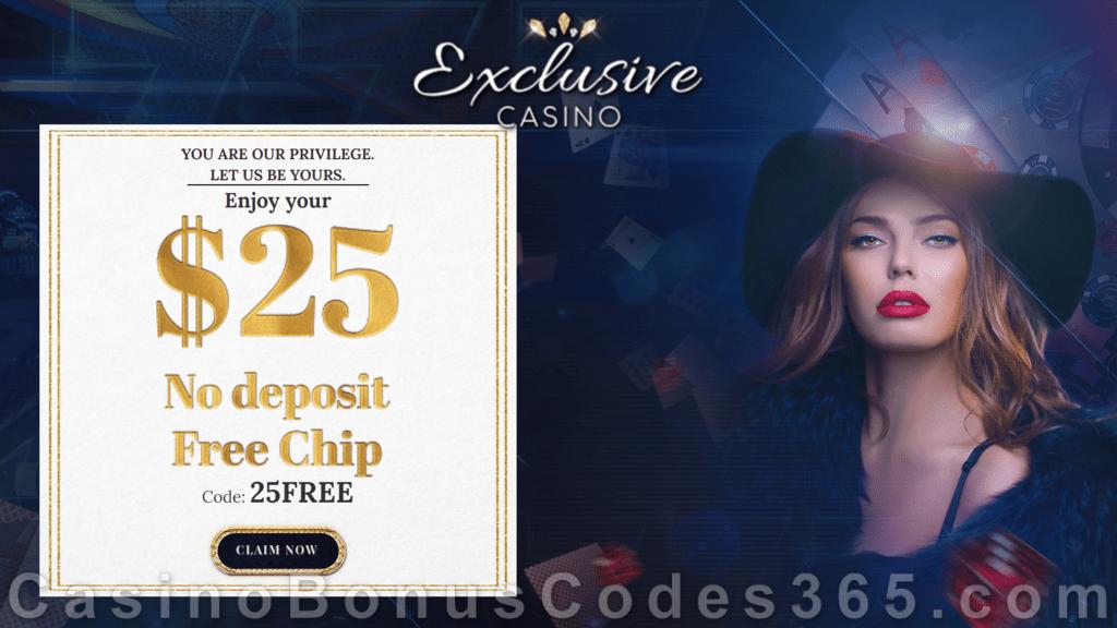 Exclusive Casino 25 Free Chips Special No Deposit Deal Casino Bonus Codes 365