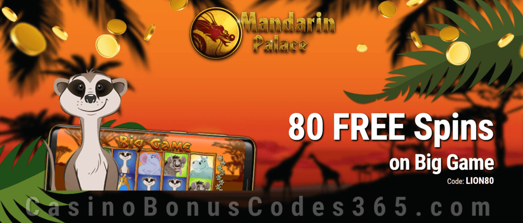 Mandarin Palace Online Casino Exclusive 80 FREE Spins on Saucify Big Game Exclusive Offer