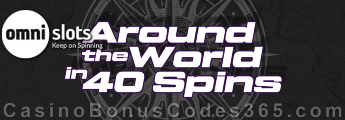 Omni Slots Travel Around the World in 40 Spins Rewards