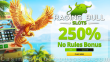 Raging Bull Casino 250% Match No Rules Bonus Special Offer