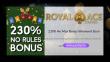 Royal Ace Casino Fiesta Weekend 230% No Rules Bonus