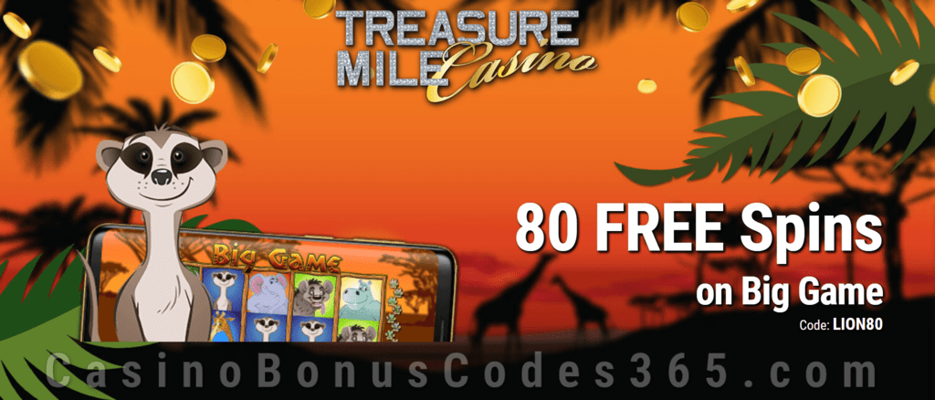 Treasure Mile Casino 80 FREE Saucify Big Game Spins Exclusive Offer