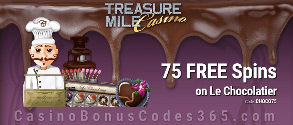 Treasure Mile Casino 75 Exclusive Free Spins On Le Chocolatier