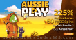 AussiePlay Casino 225% Pokies Bonus plus 75 FREE RTG Cash Bandits 2 Spins Welcome Deal
