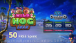 Diamond Reels Casino Special Wild Hog Luau New RTG Game 50 FREE Spins Promo