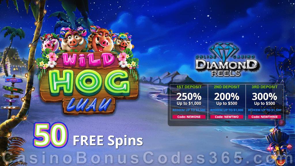 Diamond Reels Casino Special Wild Hog Luau New Rtg Game 50 Free