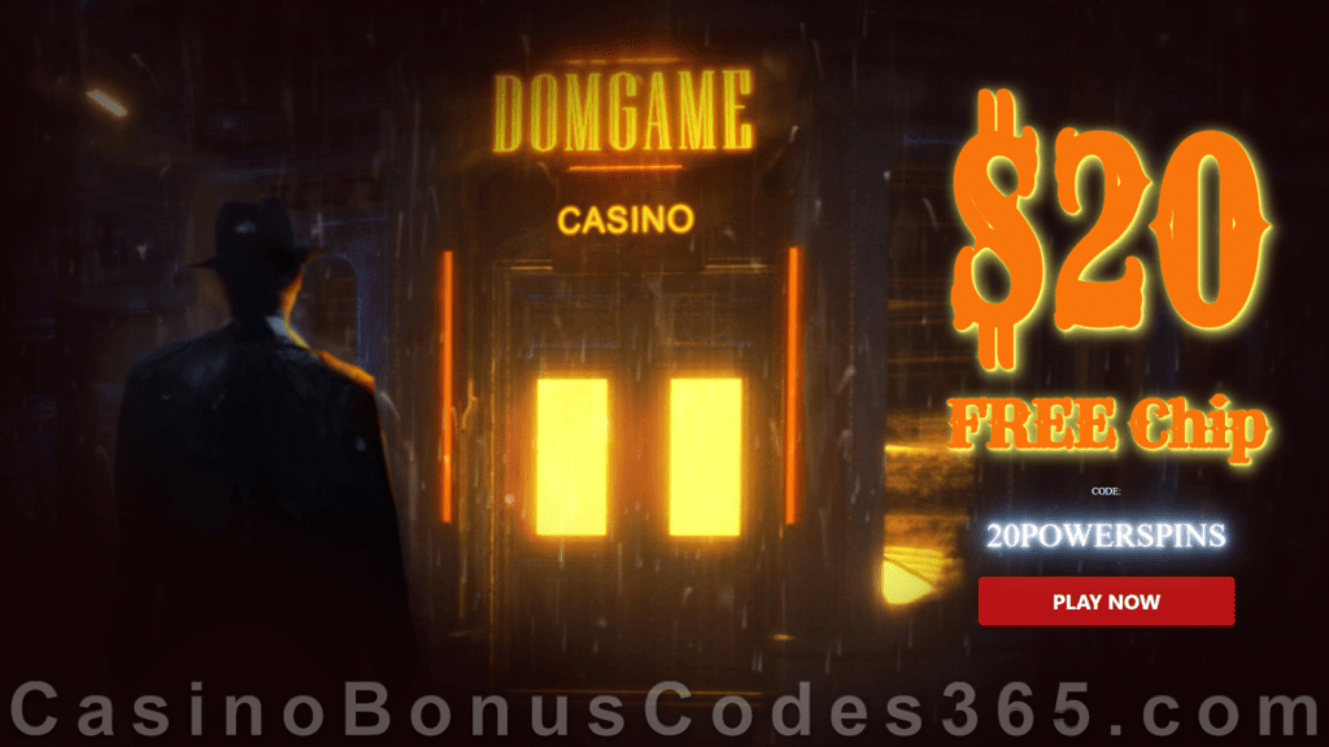 DomGame Casino Exclusive $20 FREE Chips No Deposit Welcome Offer