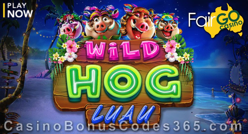 Fair Go Casino New RTG Game Wild Hog Luau LIVE