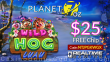Planet 7 OZ Casino Wild Hog Luau New RTG Game Pre Launch$ 25 FREE Chip Special Offer