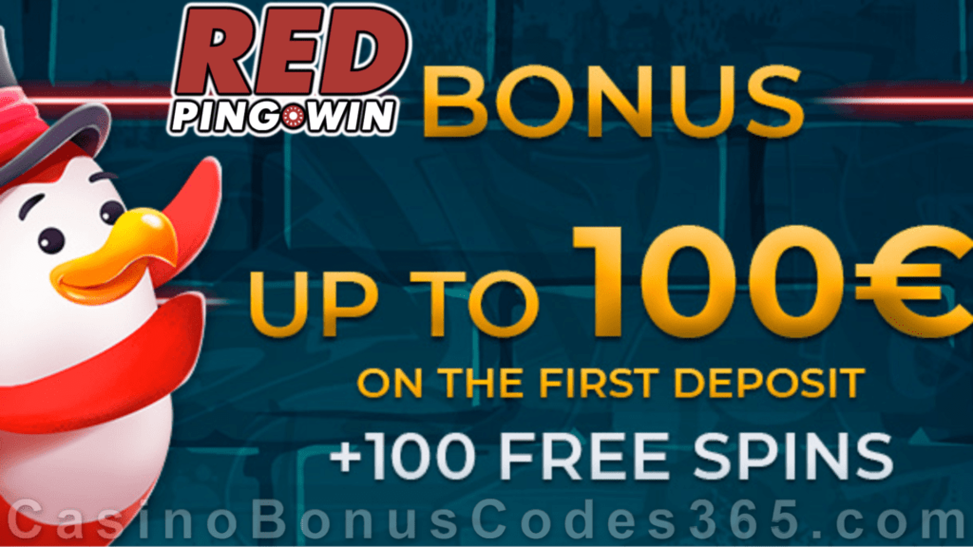 RED PingWin Casino €100 plus 100 FREE Spins First Deposit Bonus