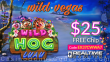 Wild Vegas Casino Wild Hog Luau New RTG Game $25 FREE Chips Pre Launch Special Offer