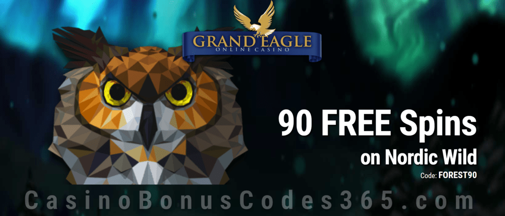 Grand Eagle Casino Special 90 FREE Saucify Nordic Wild Spins No Deposit Offer