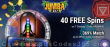 Jumba Bet 40 No Deposit FREE Spins on Saucify 7 Chakras plus 369% Match Welcome Bonus Pack