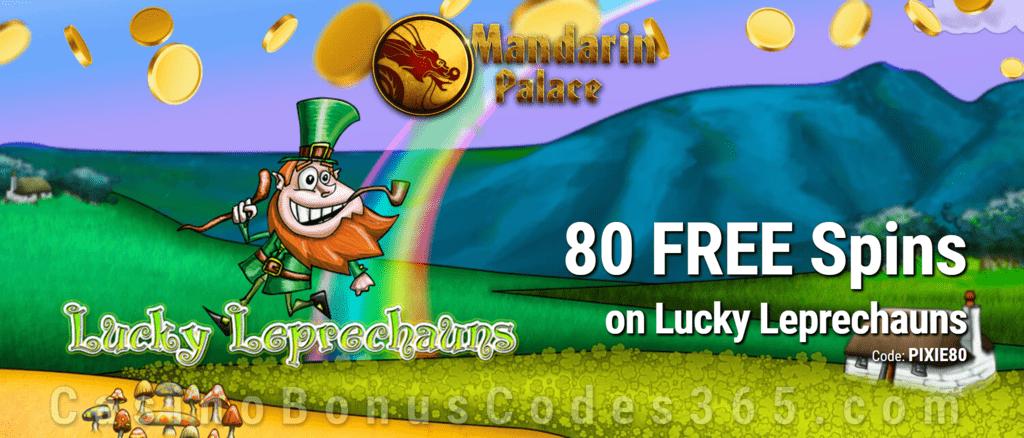Mandarin Palace Online Casino Exclusive 80 FREE Saucify Lucky Leprechauns Spins No Deposit Offer