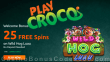 PlayCroco 25 FREE RTG Wild Hog Luau Spins All Players Special Deal