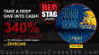 Red Stag Casino 340% Match plus 125 FREE WGS 20000 Leagues Spins Welcome Bonus