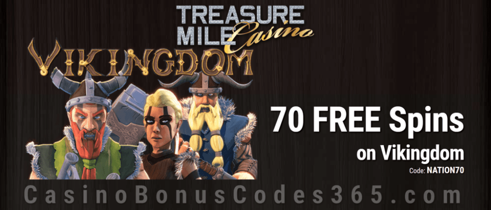 Treasure Mile Casino 70 Exclusive FREE Spins on Saucify Vikingdom