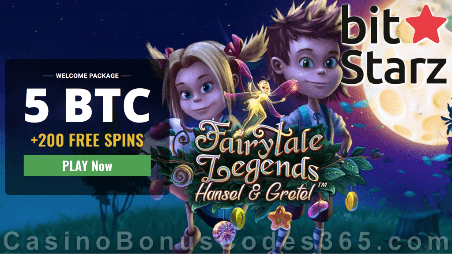 Bitstarz Casino 5 BTC plus 200 FREE Spins Welcome Bonus Pack